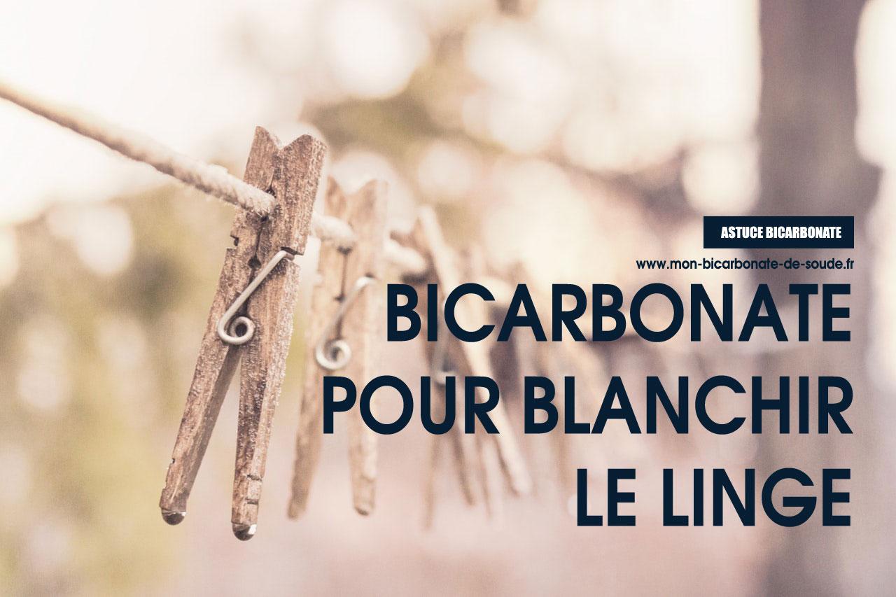 Bicarbonate pour blanchir le linge